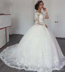 Wedding Dress Plus Size Chart Ball Gown Wedding Dresses Bateau Neck Long Sleeves Plus Size Wedding Dresses Lace Applique Lace Dresses Black Girls Bridal Wedding Gowns