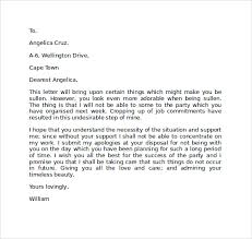 Sample Apology Letter to Girlfriend