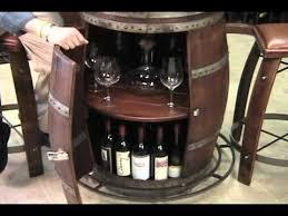 Wine barrel bar plans Coffee Youtube Vintage Oak Wine Barrel Bistro Table Youtube