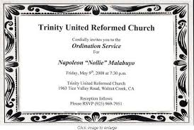 Ordination Invitation Template How To Write An Ordination Invitation Pastor Anniversary