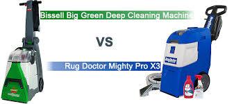 rug doctor mighty pro x3 vs bis big green