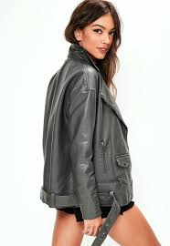 faux leather jacket grey faux leather boyfriend biker jacket previous next green faux leather jacket zara