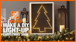 Home Depot Christmas Tree Replacement Lights Diy Light Up Christmas Sign The Home Depot