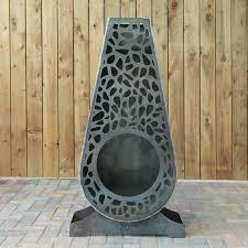 corten steel chiminea firepit