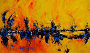 her abstract paintings are expressions of her love for color and textures description from abstractartistgallery