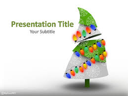 tree in powerpoint free decorated christmas tree powerpoint template download free