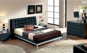 Modern Leather Bedroom Sets Unique Leather Design Bedroom Furniture With Padded Headboard