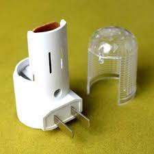 led night light lamp wall mounted plug