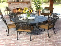7 piece round dining set round table patio dining sets beautiful 7 piece cast aluminum patio