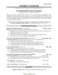 Restaurant Manager Resume Example In Best Of Examples Resumes - Sradd.me