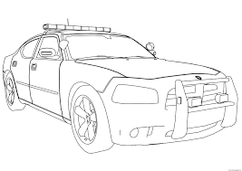 Small Picture New Police Car Dodge Charger Coloring Pages Printable