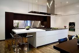 Ergonomic Kitchen Design Modern Home Design With Elegant Living Room With Clear Cut And