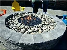 full size of custom fire pit glass wind guard gas table with beads rocks our home