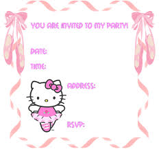 card maker template hello kitty invitation card maker cute kitty party invitation cards
