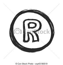 Registered Symbol Grunge Registered Trademark Symbol Vector Illustration