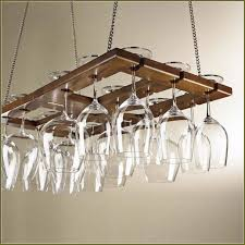 wine glass rack under cabinet