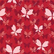 Vector Seamless Pattern With Butterfly ...