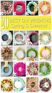 20 best diy spring and summer wreaths