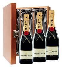 moet chandon brut chagne 75cl three bottle luxury gift box