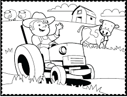 Tractor Coloring Sheet Super Cool Ideas Tractor Coloring Pages Farm