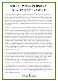 University Personal Statement Examples 001 Personal Statement Social Work Example Michigan State