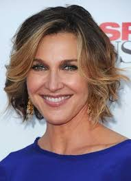short bage haircut for women over 50 with wavy hair