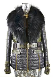 leather jacket with fabric and fur