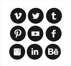 round social media icon. Plain Round Circle Social Media Icons For Round Icon D