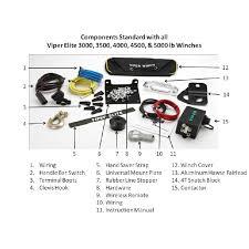 lb viper elite winch amp mount black rope yamaha 4500lb viper elite winch amp mount black rope