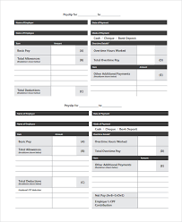 Payslip Template Free Download