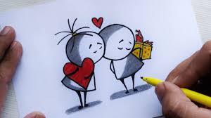 drawing valentine cute