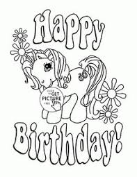 Small Picture Happy Birthday Girl coloring page for kids holiday coloring pages