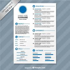 Editable Resume Template Editable Cv Format Download Psd File Free Download
