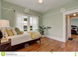 Pastel Colored Bedrooms Pastel Green Walls In Kids Bedroom House Interior Stock Photo