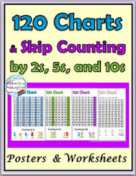 Counting Chart By Tens To 120 Skip Counting Worksheets And Posters Skip Counting By 2s 5s And 10s