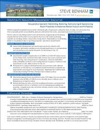 National Award Winning Executive Resume Examples Executive Cover