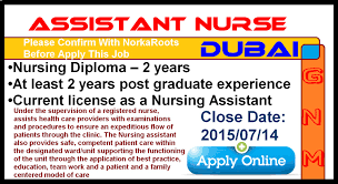 Nurses Job Vacancy Assistant Nurse Dubai