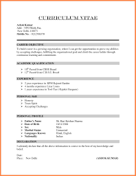 10 How To Write A Cv Format My Blog