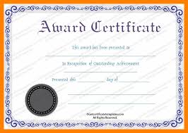 12 Free Printable Award Certificates Templates St