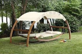 Porch Swing Hammock Bed Patio Furniture Hanging Canopy Wood – San