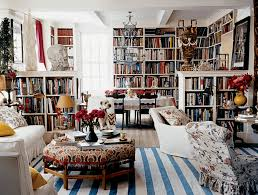 Home library lighting Old Fashioned Home Carolina Irving Laurel Bern Interiors Creating Chic Cosy Home Librarybest Colors Lighting And