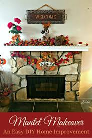 add style to your home and fireplace with this easy diy mantel makeover for under 50