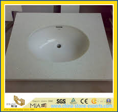 prefab sparkle white quartz bathroom vanity tops yym