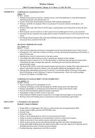 Corporate Sales Resume Samples | Velvet Jobs