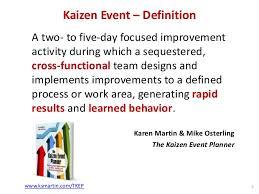 Kaizen Event Scoping Define