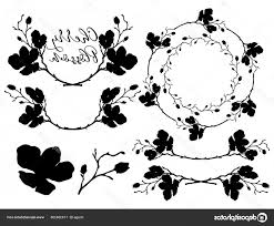 Stock Illustration Vector Cherry Blossom Shapes Dividers Geekchicpro