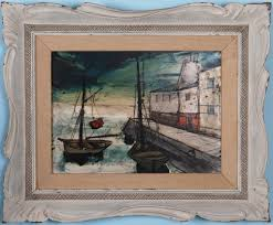 boats and harbour scene