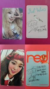 Details About Lot Of 2 Red Velvet Irene Official Photo Card Ice
