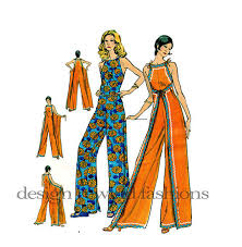 Jumpsuit Pattern Simple 48s WRAP JUMPSUIT PATTERN Front Or Back From Design Rewind At