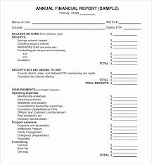 annual financial statement template sample financial reports of 26 inspirational image financial